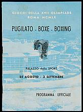 A Rome 1960 Olympic Games programme for the boxing competitions 25th August to September 3rd