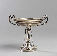 Silver golf trophy for a match involving The Duke of York (later King George VI) at Ton Pentre