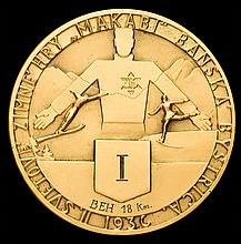 1936 Second Maccabiah Winter Games 1st place prize medal