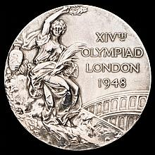 London 1948 Olympic Games silver prize medal