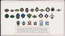 Collection of Newbury races member's badges