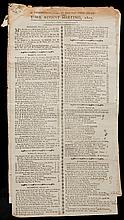 A collection of printed racecards/results for Yorkshire meetings in the late 18th & early 19th century including the 1801