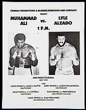 Programme for the Muhammad Ali v Lyle Alzado eight round exhibition match at the Mile High Stadium