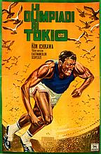 Very large Italian poster for the Official Film of the Tokyo 1964 Olympic Games