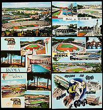 Six postcards issued for the Rome 1960 Olympic Games