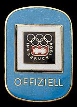 Innsbruck 1964 Winter Olympic Games Official's badge