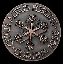 Cortina 1956 Winter Olympic Games participant's medal