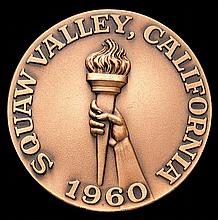 A Squaw Valley 1960 Winter Olympic Games participant's medal