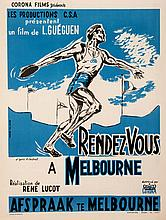 Belgian poster for the official film of the Melbourne 1956 Olympic Games