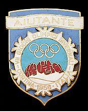 Cortina 1956 Winter Olympic Games helper's badge