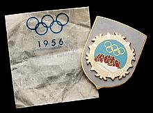 Cortina 1956 Winter Olympic Games guest's badge