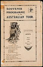 Souvenir programme for the Anglo-Welsh v Australian Wallabies rugby match played at Richmond 5th December 1908  This famous Australian touring team had previously won the gold medal for rugby at the London 1908 Olympic Games.