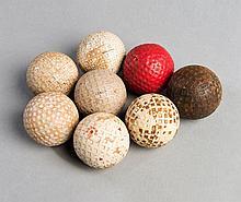 Eight golf balls