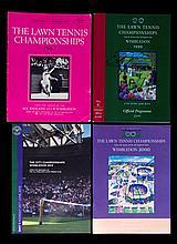 Four signed Wimbledon tennis programmes