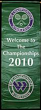 A large ''Welcome'' banner from the 2010 Wimbledon Lawn Tennis Championships