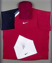 Roger Federer signed tennis shirt