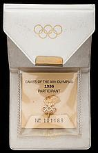 Berlin 1936 Olympic Games IOC participant's badge
