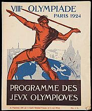 Paris 1924 Olympic Games daily programme for 18th July and including the marathon race