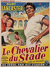 Belgian version of the movie poster for ''Jim Thorpe - All American'' starring Burt Lancaster as the Stockholm 1912 Olympic Games double gold medallist