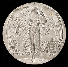 A London 1908 Olympic Games participation medal