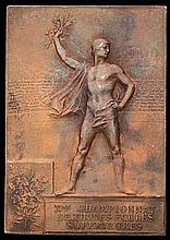 Paris 1900 Olympic Games winner's plaque for University Shooting Competition