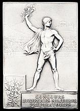 Paris 1900 Olympic Games silver award plaque