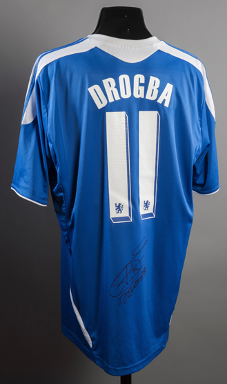 super popular b6de9 e017d Didier Drogba signed replica Chelsea jersey from the 2011-12 ...
