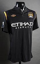 Shaun Wright-Phillips: a black Manchester City No.8  jersey from the opening Premier League match of the 2009-10 season v Blackburn Rovers at Ewood Park