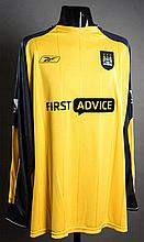 David Seaman: a yellow & black Manchester City match-issued Premier League goalkeeping jersey season 2003-04