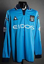 Alf-Inge Haland: a sky blue Manchester City match-issued First Division No.15 jersey season 2001-02