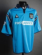Robbie Fowler: a sky blue Manchester City match-issued Premier League No.33 jersey season 2002-03