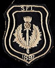 Thomas Low's Scottish Football League shirt badge from the match v The Football League at Ibrox 24th April 1897