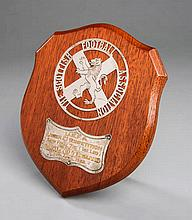 A Scottish Football Association trophy shield presented on the occasion of the UEFA U-21 Competition in 1982