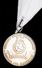 Crewe Alexandra Nationwide Football League Second Division runners-up medal season 2001-02