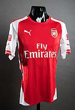 Mathieu Flamini's match-worn Arsenal No.20 2014 F.A. Community Shield jersey