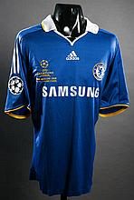 Didier Drogba: a blue Chelsea No.11 match-issued 2008 Champions League Final jersey