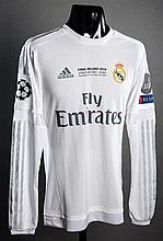Gareth Bale white Real Madrid No.11 2016 UEFA Champions League Final match-issued jersey