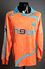 Mamadou Niang: tangerine & sky blue Olympique de Marseille No.11 match-issued third-choice jersey season 2007-08
