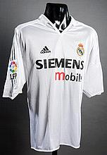 Zinedine Zidane: a white Real Madrid No.5 match-issued La Liga jersey season 2004-05