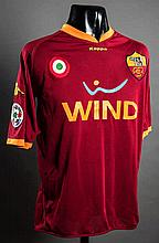 Francesco Totti: a red & orange AS Roma No.10 match-issued jersey season 2007-08