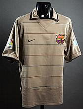 Ronaldinho: a Barcelona No.8 away match-issued La Liga jersey 2004
