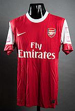 Carlos Vella's match-worn red & white Arsenal No.11 jersey from the 2010 Emirates Cup win over Celtic