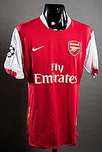 Tomas Rosicky: a red & white Arsenal No.7 match-issued Champions League jersey season 2007-08