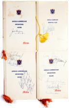 A collection of 14 Anglo-American Sporting Club Boxing programme/menus incl