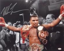 Mike Tyson signed large colour photograph, 16 by 20in., signed in silver ma