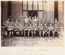 A photograph of the Sandringham and Woolwich military academy rugby teams w