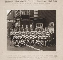 An official photograph of the Bristol Rugby Football Club team in season 19