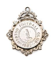 An early Morton Football Club medal dated 1882, silver, engraved with a foo