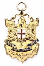 9ct. gold & enamel medal for the 1899 Sheriff of London Charity Shield, The