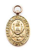 Glasgow Charity Cup winner's medal awarded to Joe Dodds of Celtic FC in 191